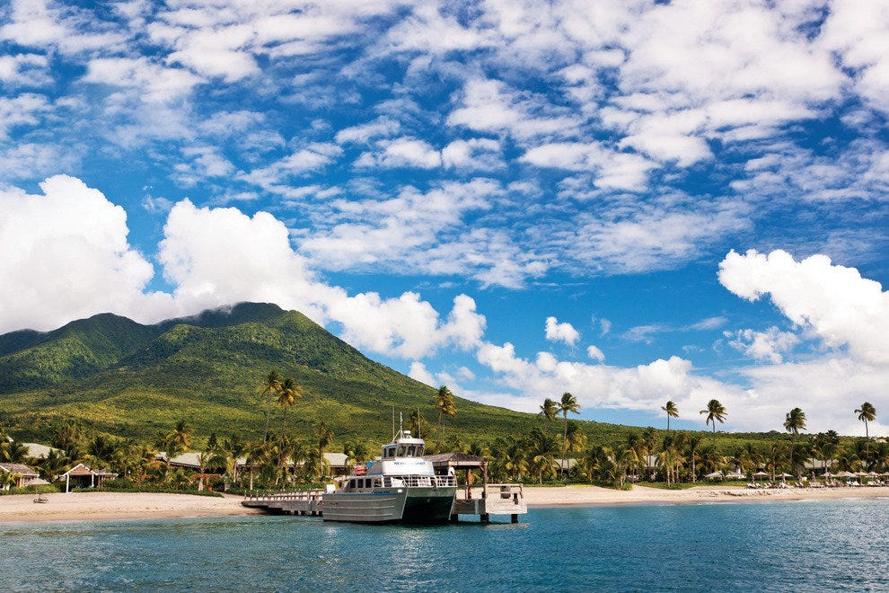 The ferry to and from St. Kitts at Four Seasons Resort Nevis