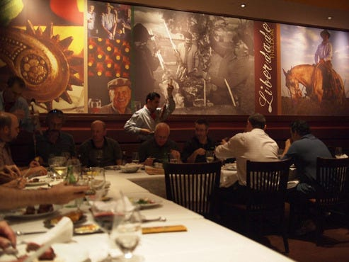 About Fogo de Chao. Fogo de Chao is an authentic steakhouse serving Brazilian fare.