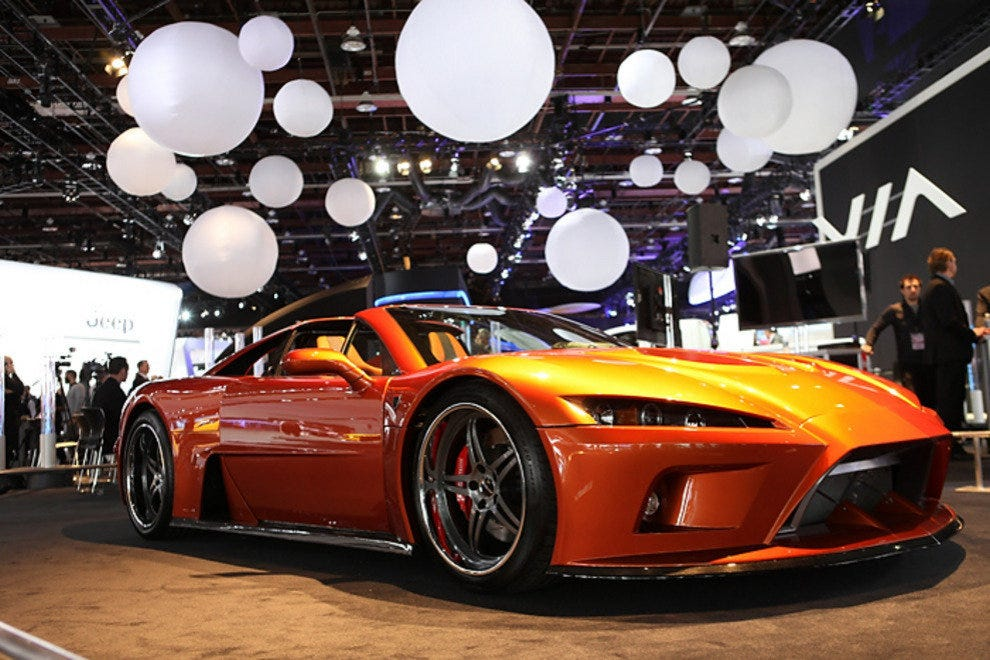 The Falcon F7 Supercar on Display