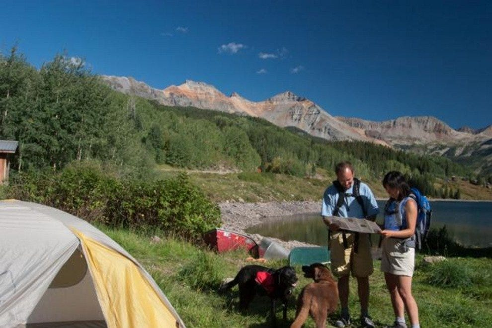 Backpacking at Trout Lake near Telluride