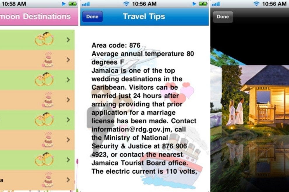 Best Honeymoon Destinations app screenshots