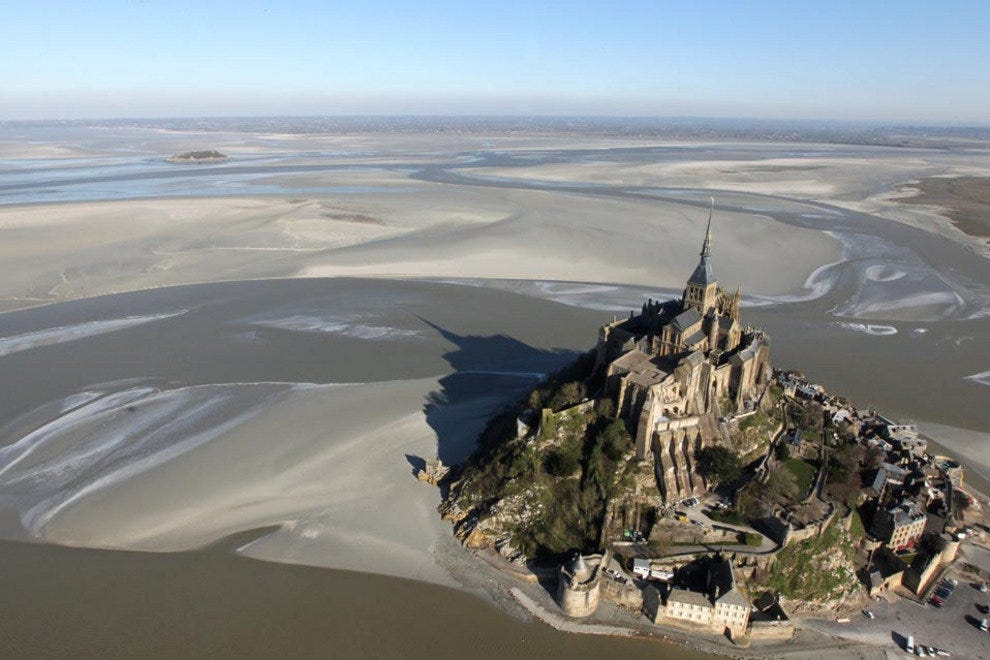 Mont-Saint-Michel at low tide