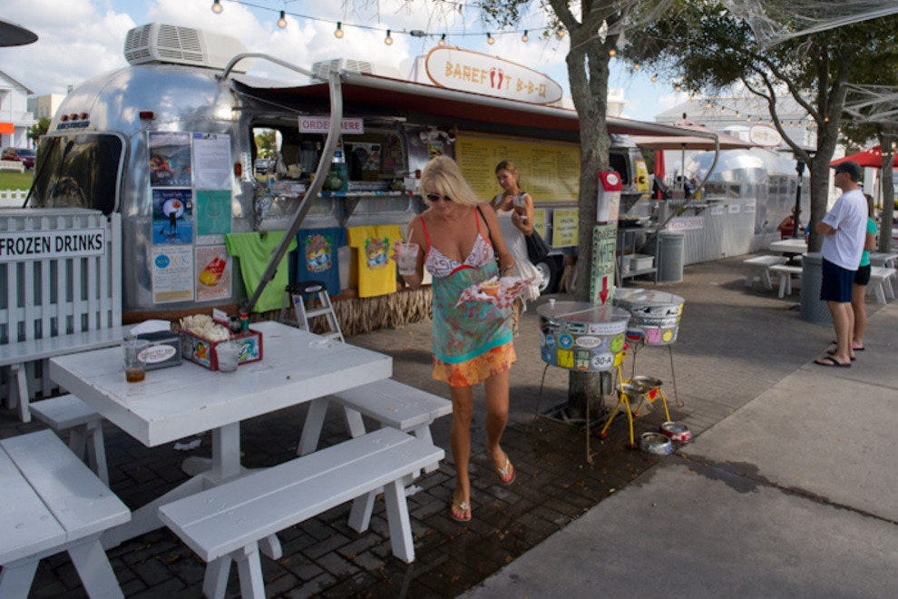 Seaside is know for its gourmet Airstream food trucks