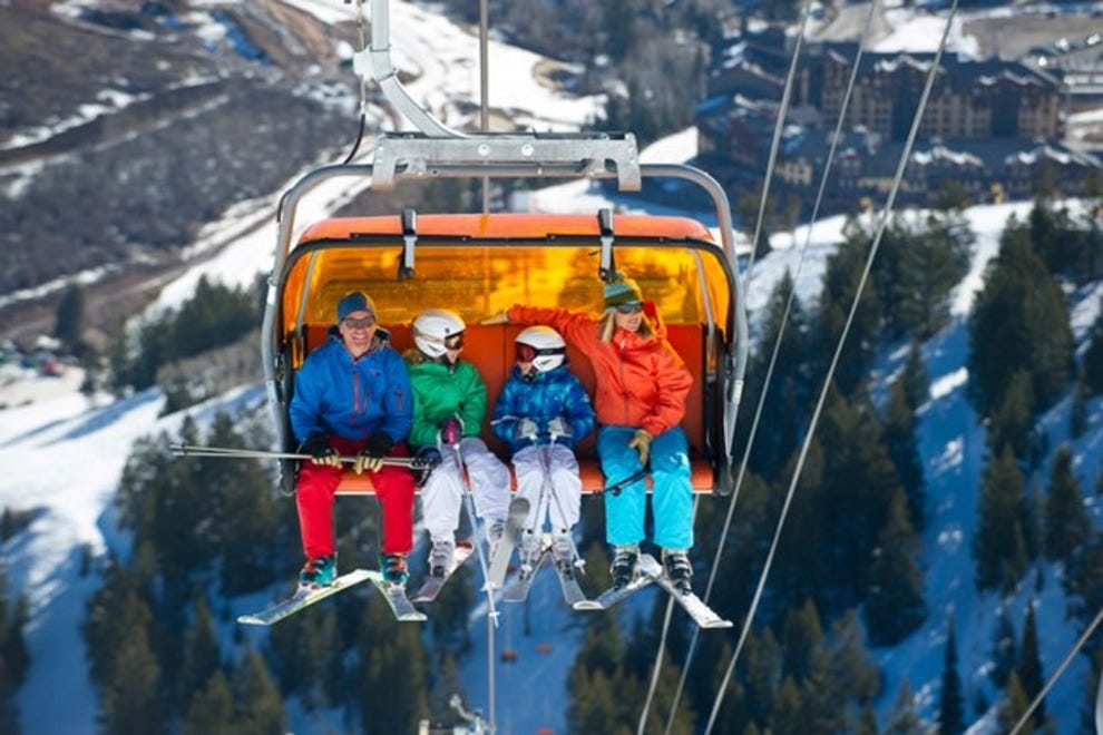 The Orange Bubble Express is North America's only heated ski lift