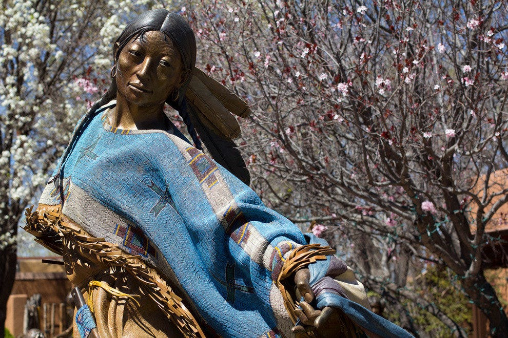 Public art is all about in Santa Fe, New Mexico