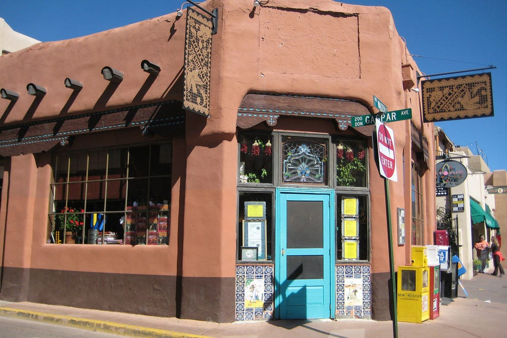 Downtown Santa Fe and Cafe Pasqual's