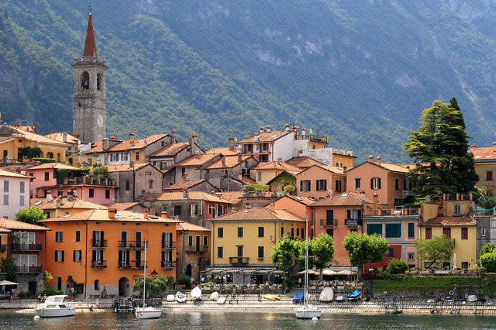 Varenna on the eastern shore of Lake Como