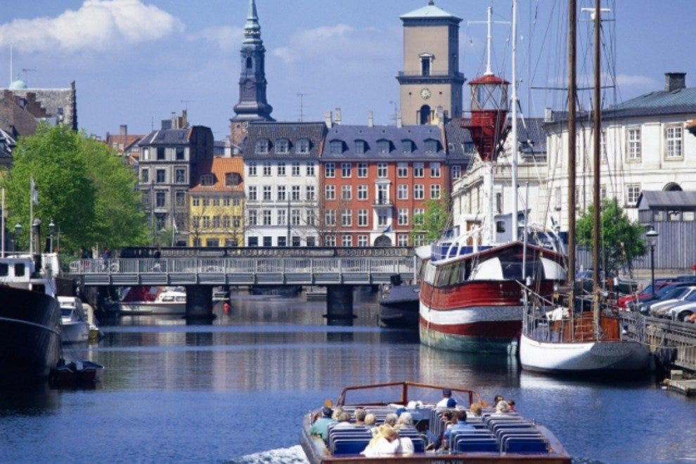 A canal tour of Copenhagen offers the chance to view the city from a different perspective.