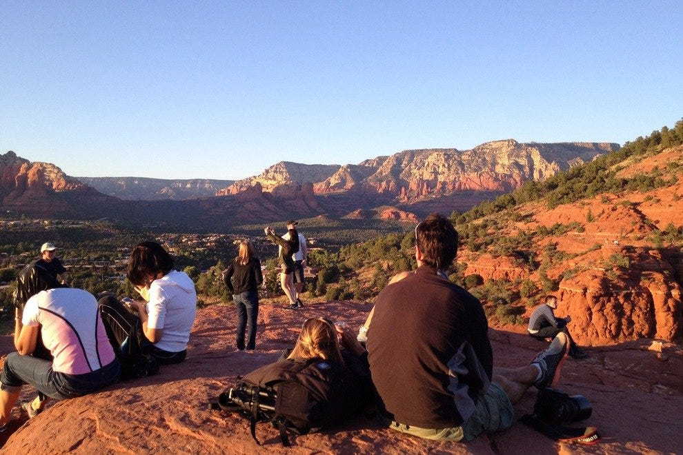 Lookout Point is the perfect spot for sunset in Sedona