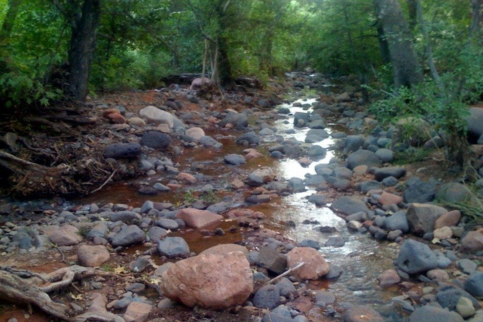 Creek at Los Abrigados Resort next to Tlaquepaque