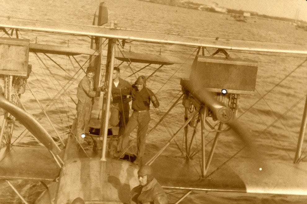 Navy Seaplane in 1918