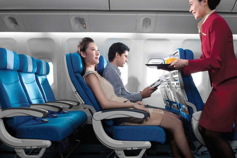 The new and improved Cathay Pacific Economy Class seat
