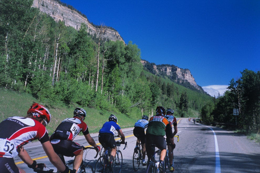Riders heading to Silverton along U.S. 550.