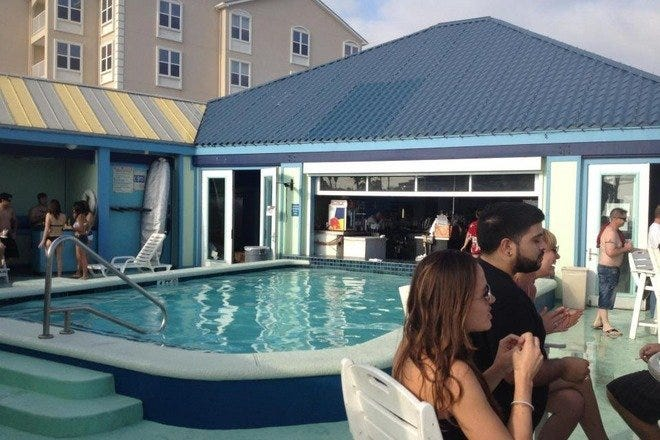 Float Pool & Patio Bar