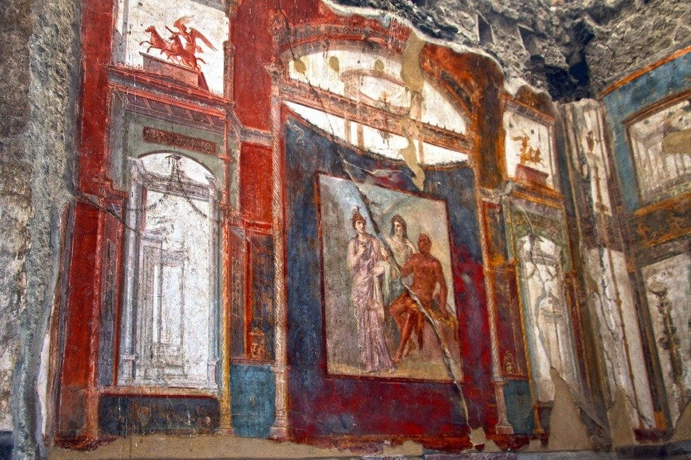 Admire Frescoes that Survived Two Thousand Years