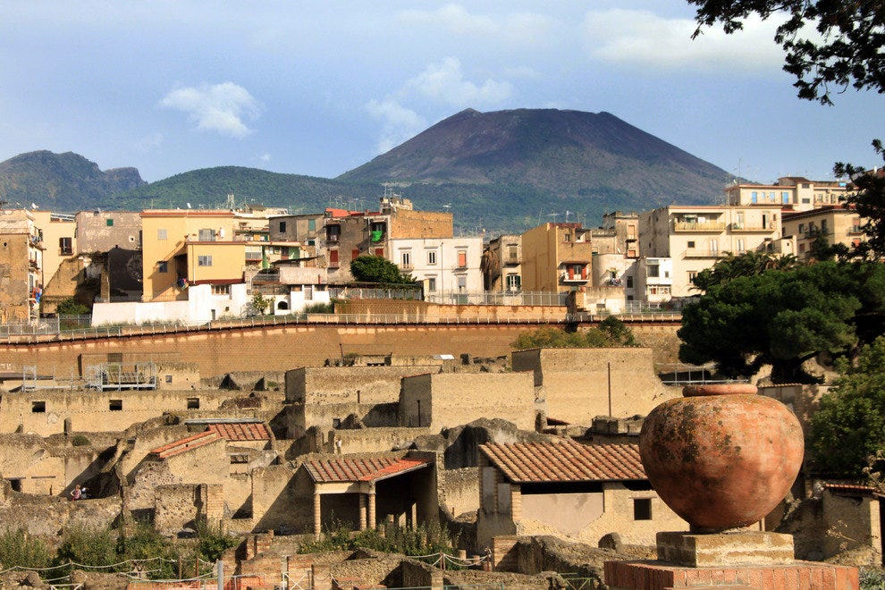 View on Herculaneum, Italy