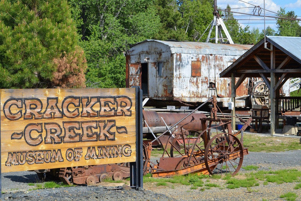Cracker Creek Mining Camp in Sumpter, Oregon