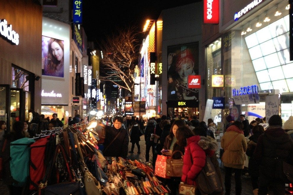Myeongdong is one of the most popular shopping destinations in Seoul.