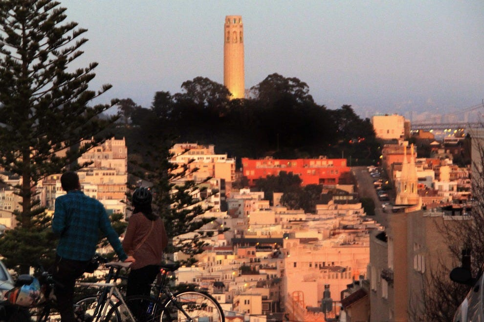Sunset View on Coit Tower