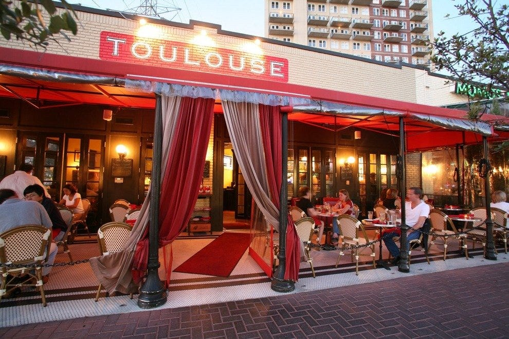 toulouse cafe and bar dallas restaurants review 10best experts and tourist reviews. Black Bedroom Furniture Sets. Home Design Ideas