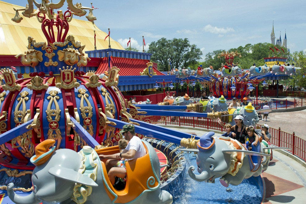 Seeing Double:  Two Dumbo Rides At Magic Kingdom's New Fantasyland