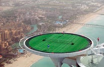 Tennis on Top of the World in Dubai