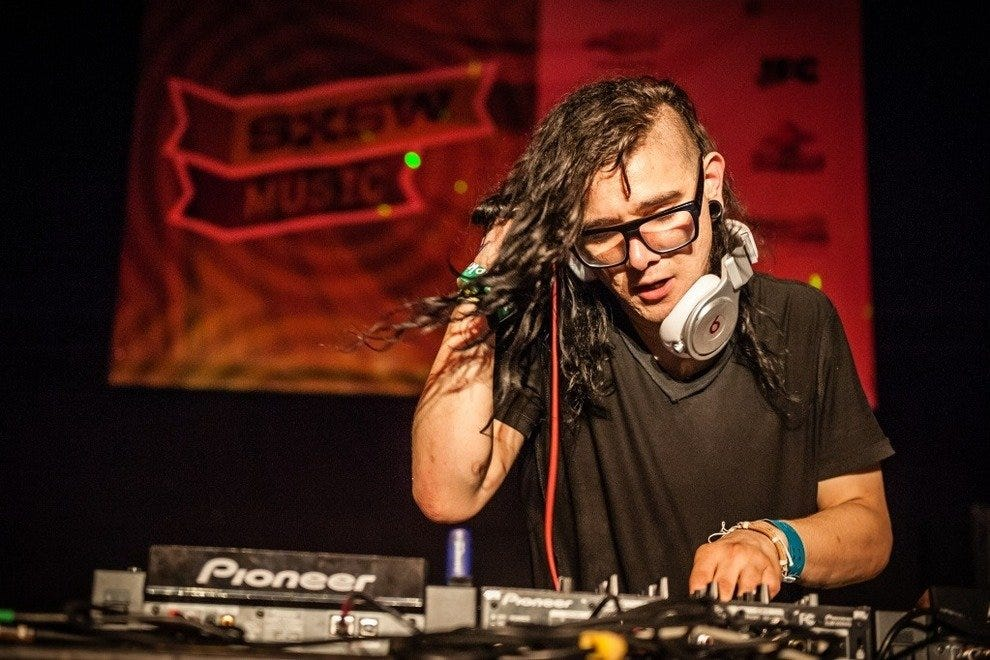 Skrillex presented by Biz 3 at 1100 Warehouse