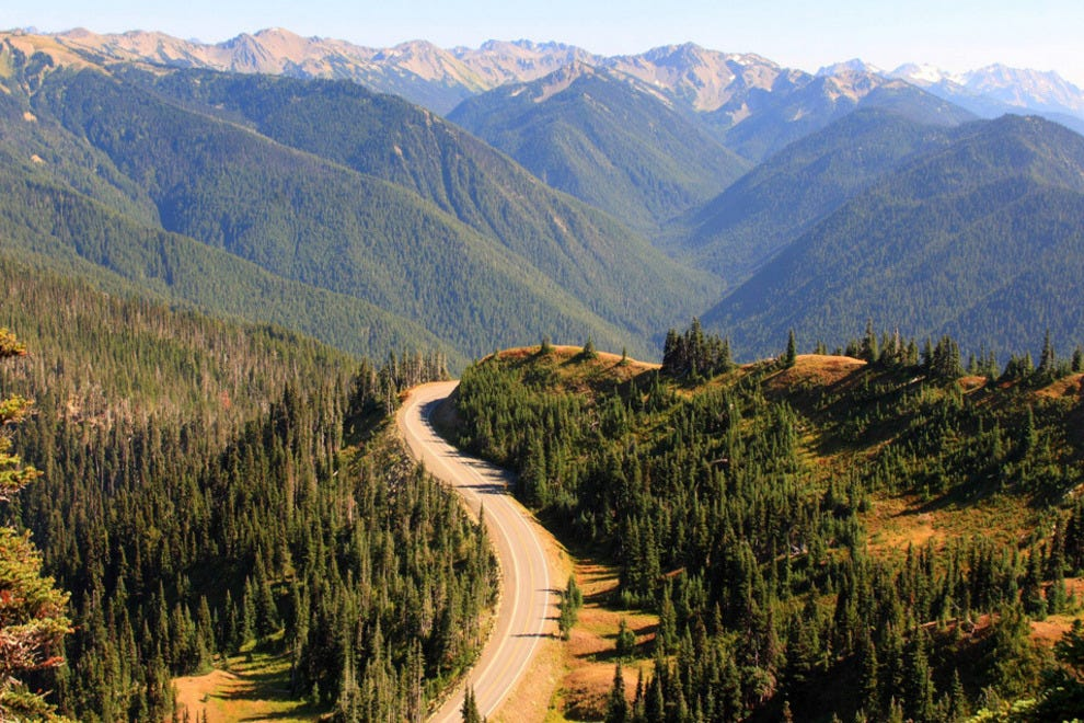 Road to Hurricane Ridge