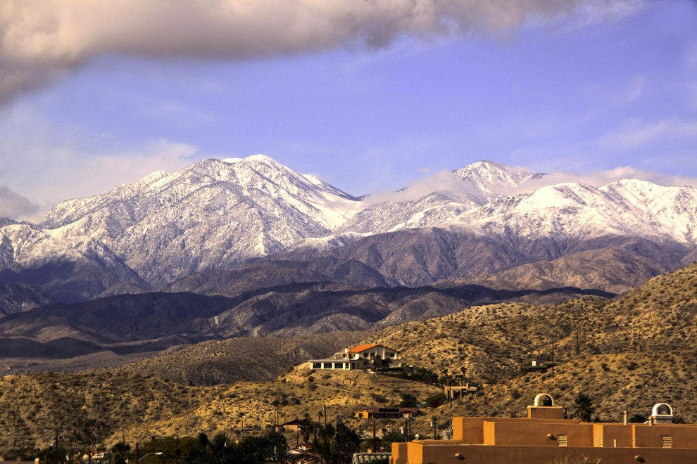 View Over Desert Hot Springs onto the San Bernadino Mountains