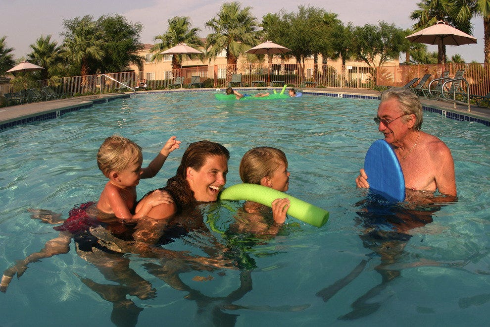 Warm Waters are Perfect for Multi-Generational Family Fun