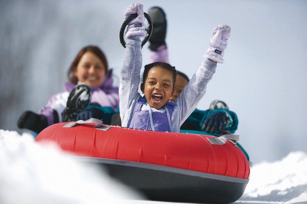 Snowtubing at Woodloch Resort