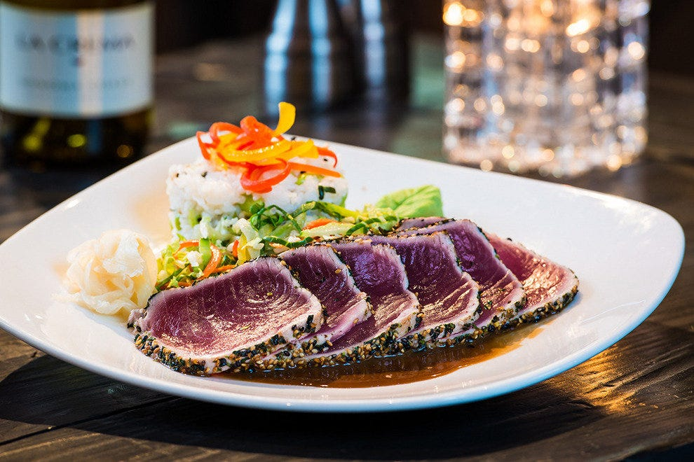 Mitch's on El Paseo serves seafood, sushi and steaks.