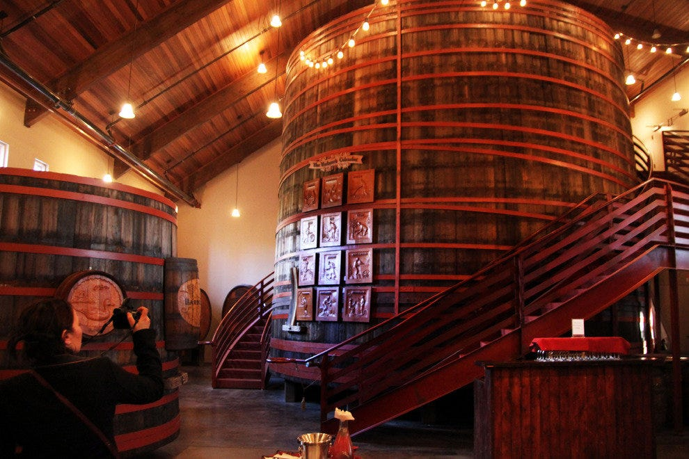 Historic Redwood Barrel, Sebastiani Winery