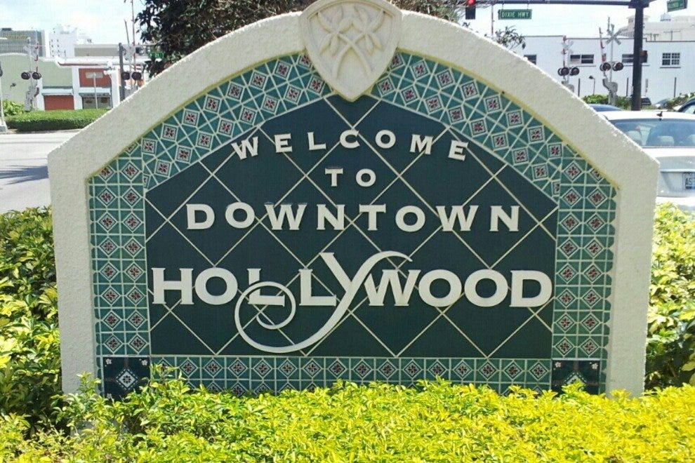 Welcoming visitors to Downtown Hollywood