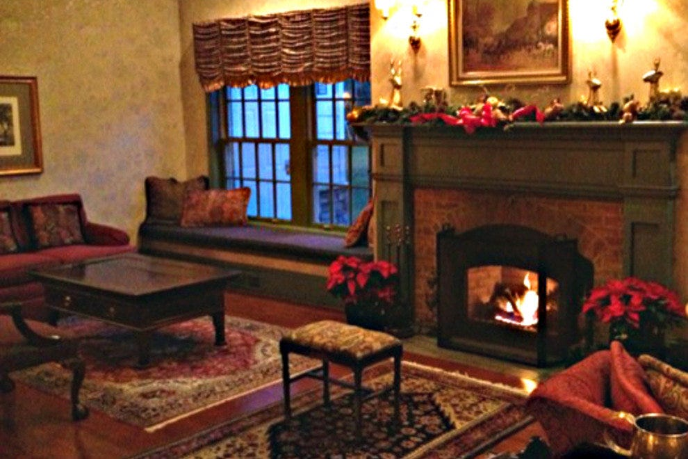 Cozy Up in the Fireplace Lounge