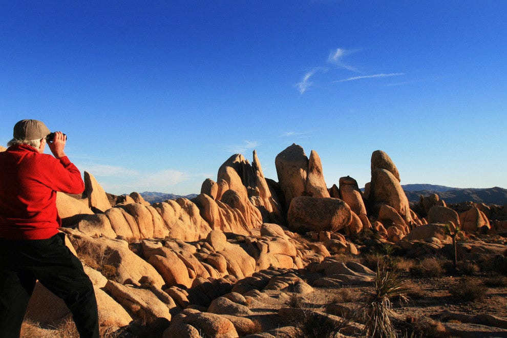 Rockpiles at Sunset, Joshua Tree National Park