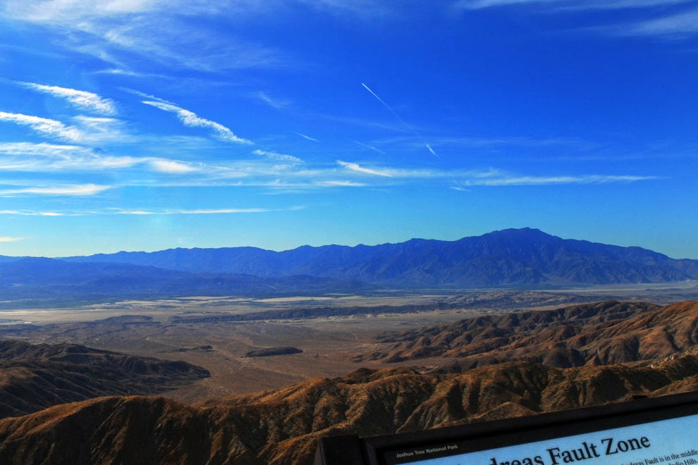 View on the San Andreas Fault from Keys View, Joshua Tree National Park