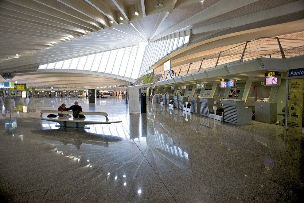 Sondika Bilbao Airport in Spain