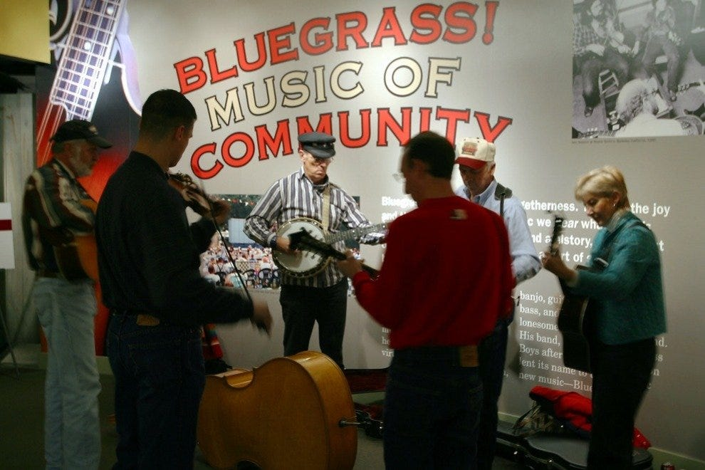Playing bluegrass