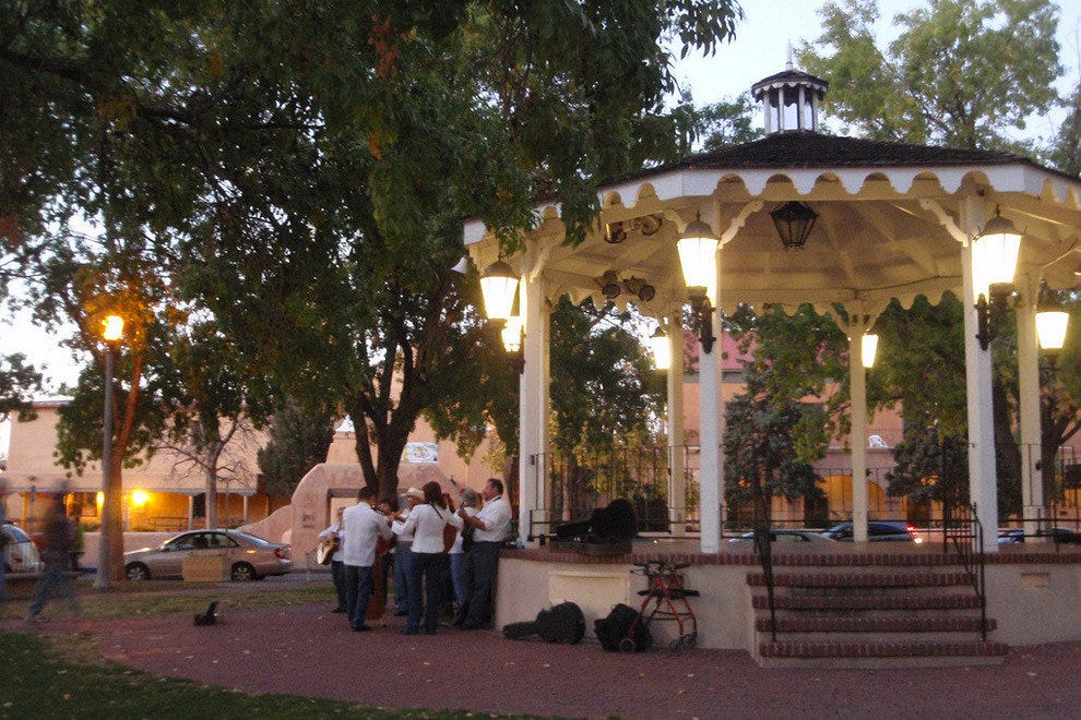 Gazebo in Old Town Plaza, Albuquerque