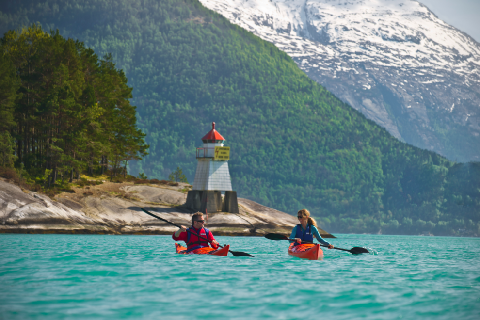 Kayaking on the Hardangerfjord
