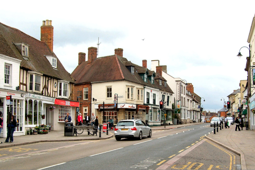 Nearby town of Towcester