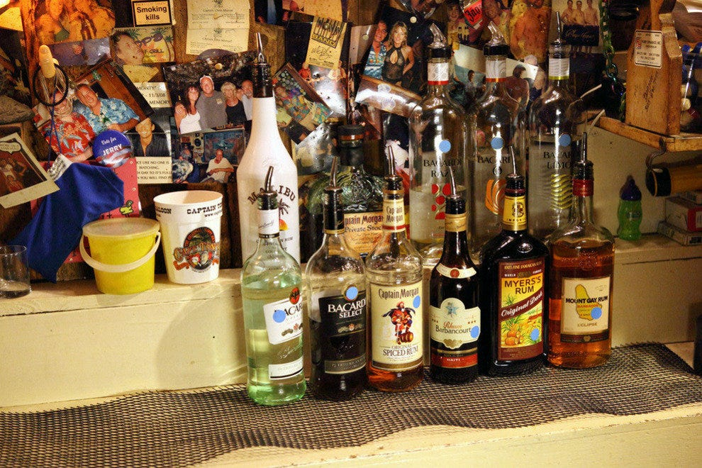 There are 100 different types of Rum at the Rum Kitchen kept in a special cellar