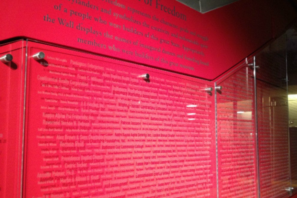Red wall inside Reginald F. Lewis museum