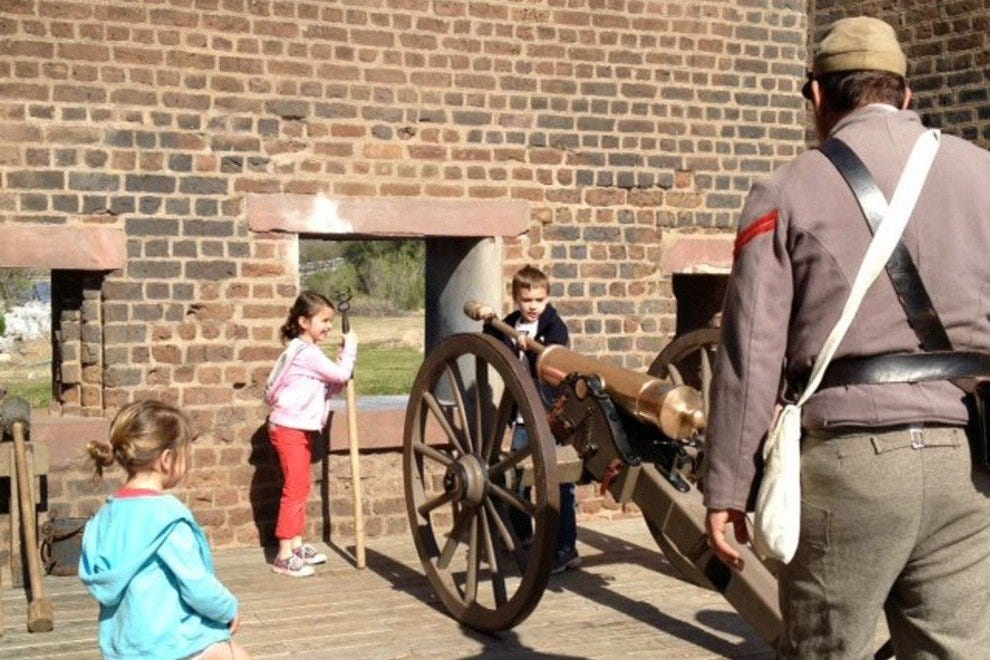 Kids can explore real cannons at Old Fort Jackson