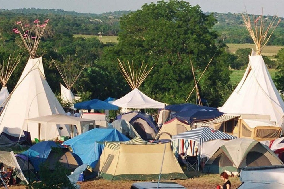 Tents and teepees in Kerrville