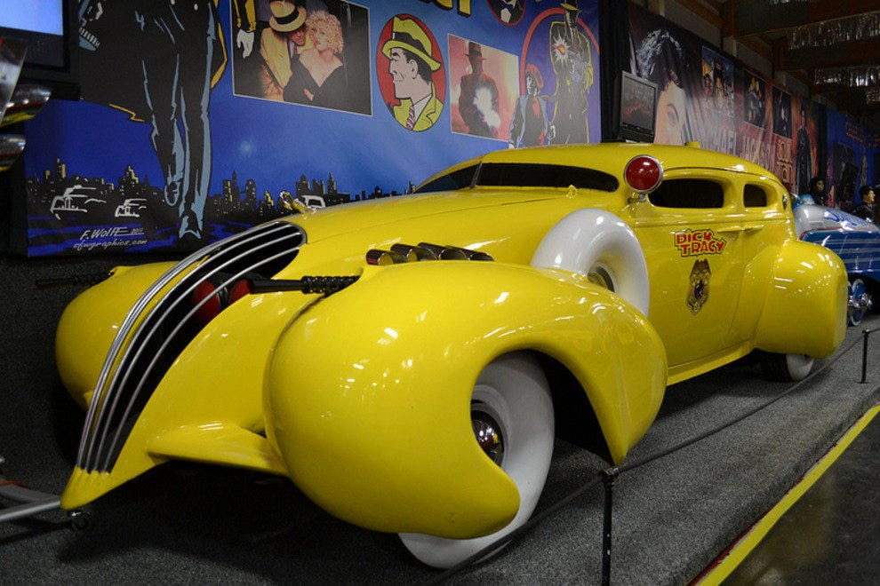 One of many zany looking fictional automobiles on display at the Volo Auto Museum
