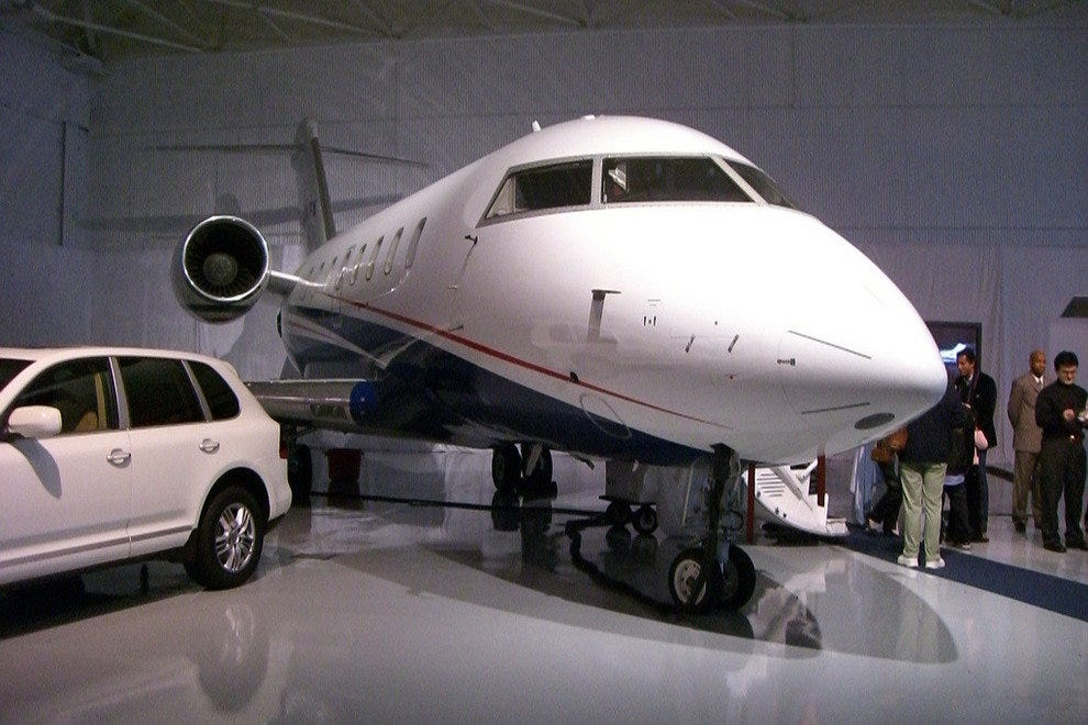 Private jets are common among successful drivers
