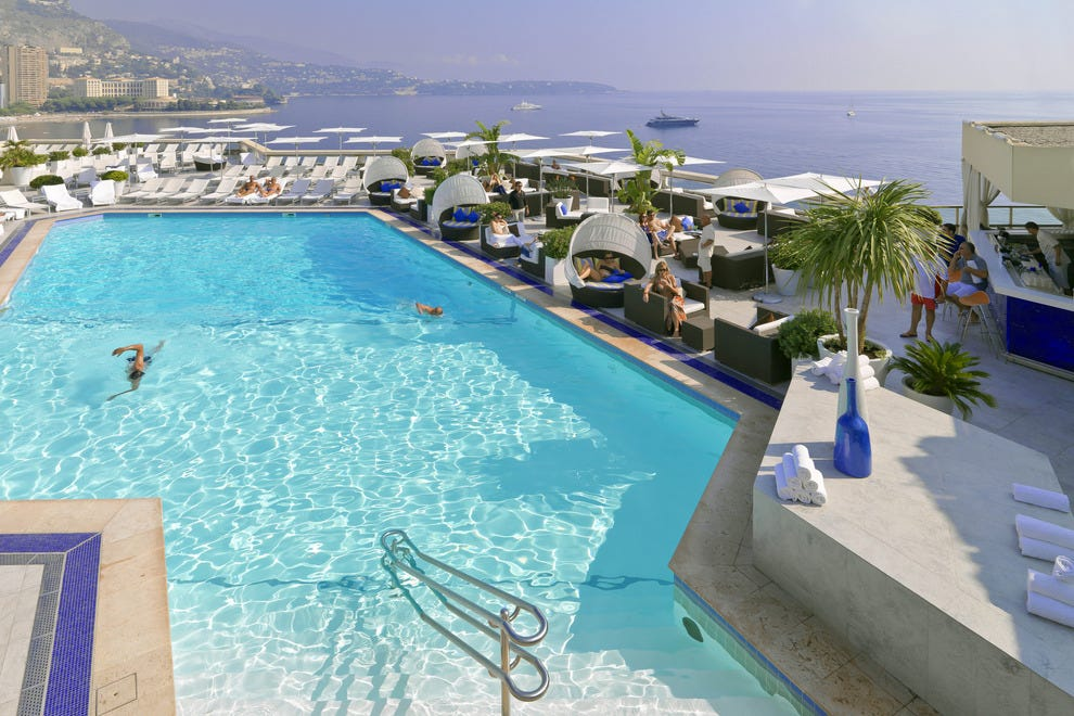 Rooftop pool at the Fairmont Monte Carlo