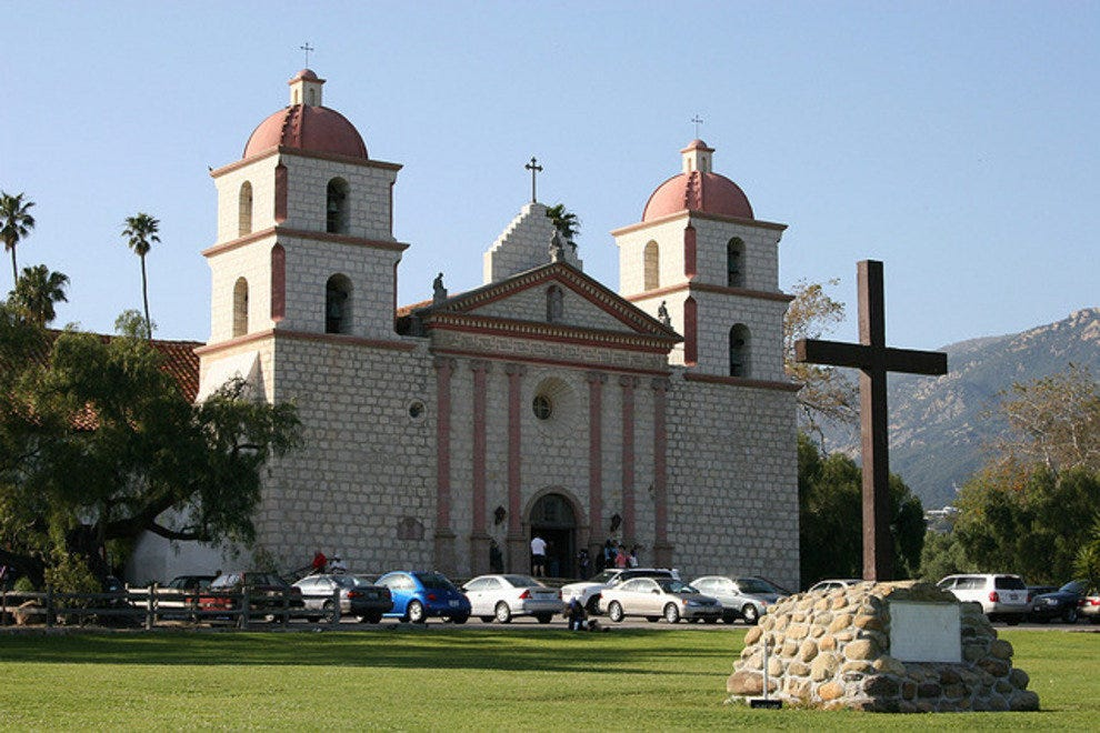 The Santa Barbara Mission is a must-see
